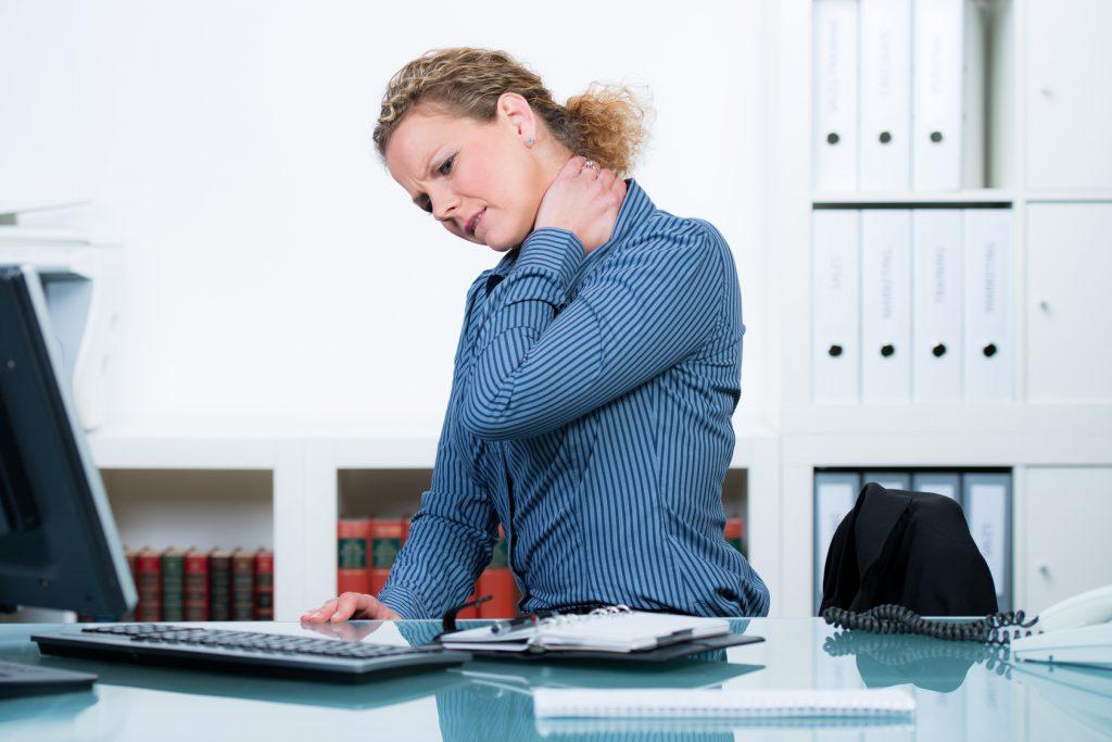 Verspannungen Büro - Nacken verspannt