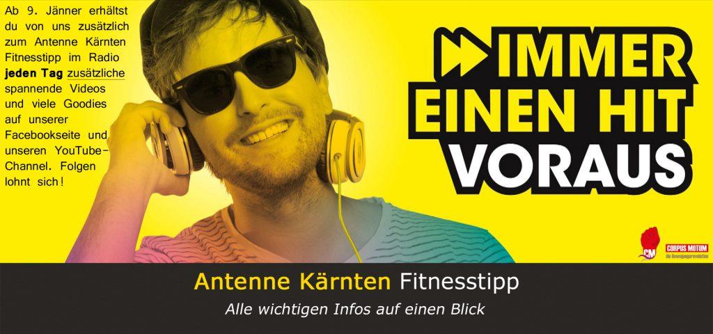 Der Antenne Kärnten Fitnesstipp - alle wichtigen Informationen auf einen Blick