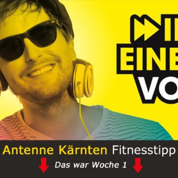 Antenne Fitnesstipp – Das war Woche 1