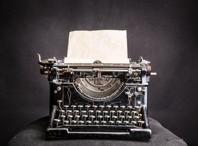 Das Büro im Wandel der Zeit - die Schreibmaschine