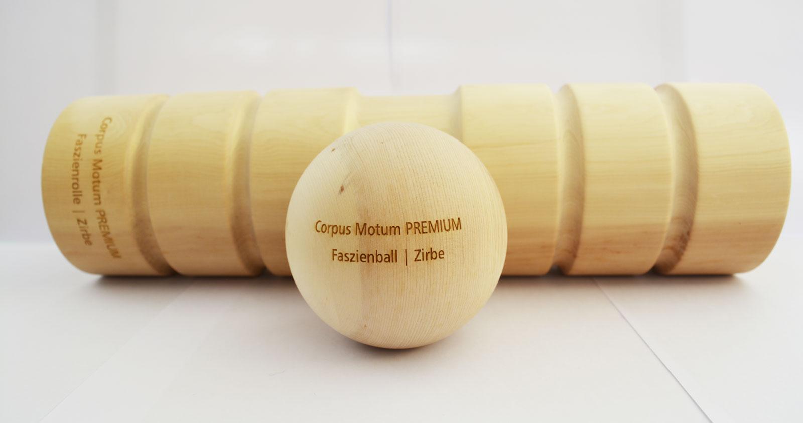 Faszienrolle Holz Faszienball