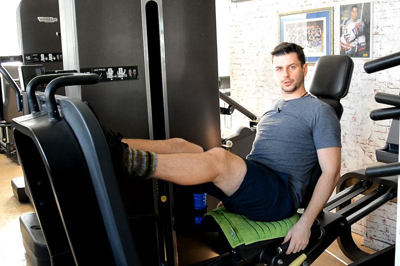 Trainingsplan Fitnessstudio Beinpresse