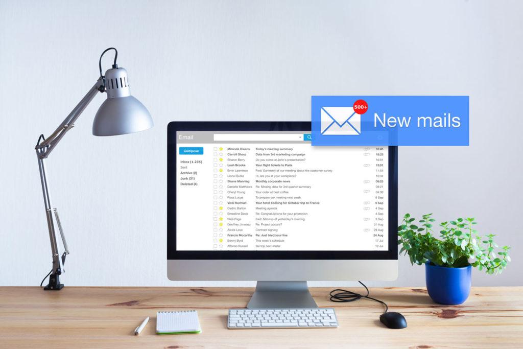 E-Mailflut Stress am Arbeitsplatz